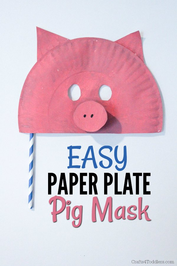 Easy Paper Plate Animal Masks Crafts 4 Toddlers : paper plate pig - pezcame.com