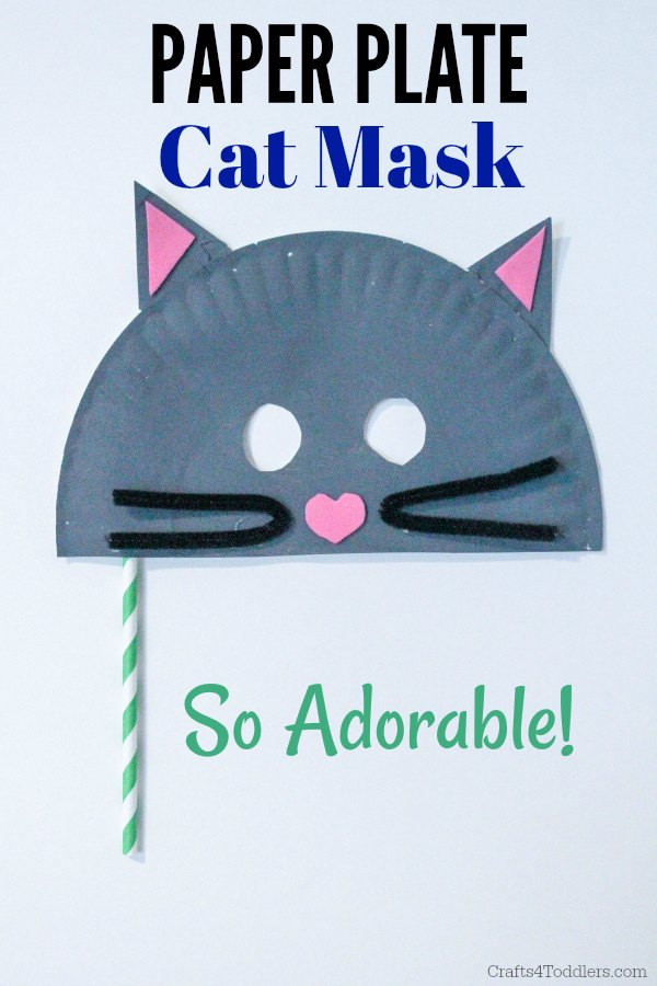 How To Make A Paper Plate Cat Mask
