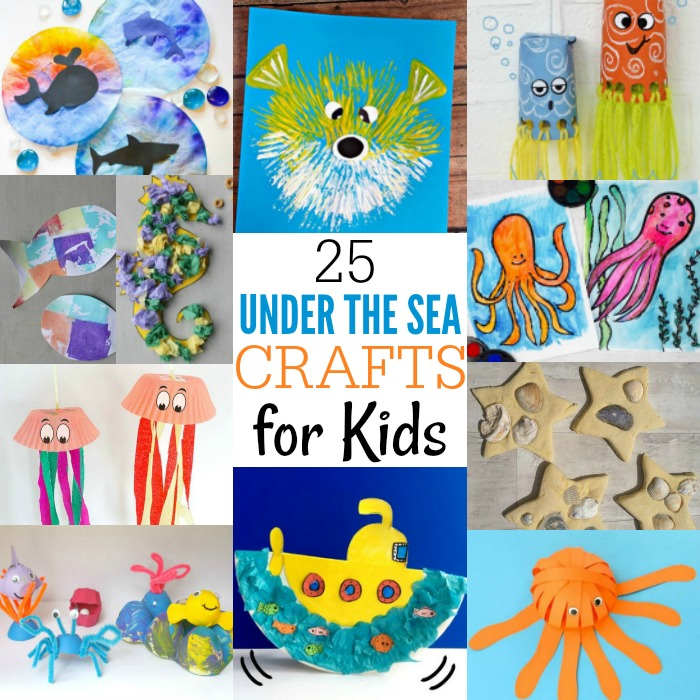 25 Under The Sea Crafts For Kids Crafts 4 Toddlers