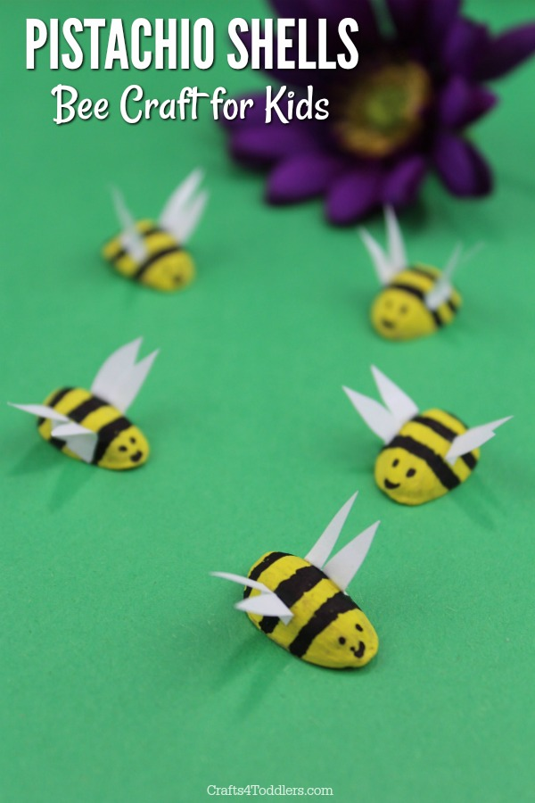 Adorable Pistachio Shells Bee Craft For Kids Crafts 4 Toddlers