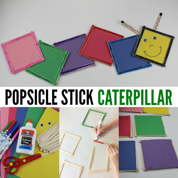 Popsicle Stick Colorful Caterpillar Craft Crafts 4 Toddlers