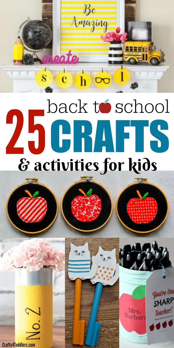 25 Back To School Crafts And Activities For Kids Crafts 4 Toddlers