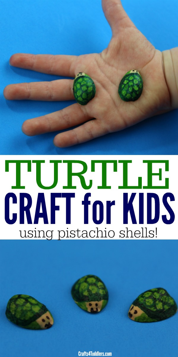 Pistachio Shells Turtle Craft For Kids Crafts 4 Toddlers