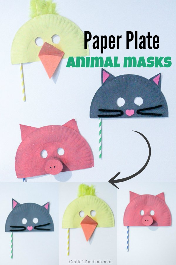 Easy Paper Plate Animal Masks Crafts 4 Toddlers