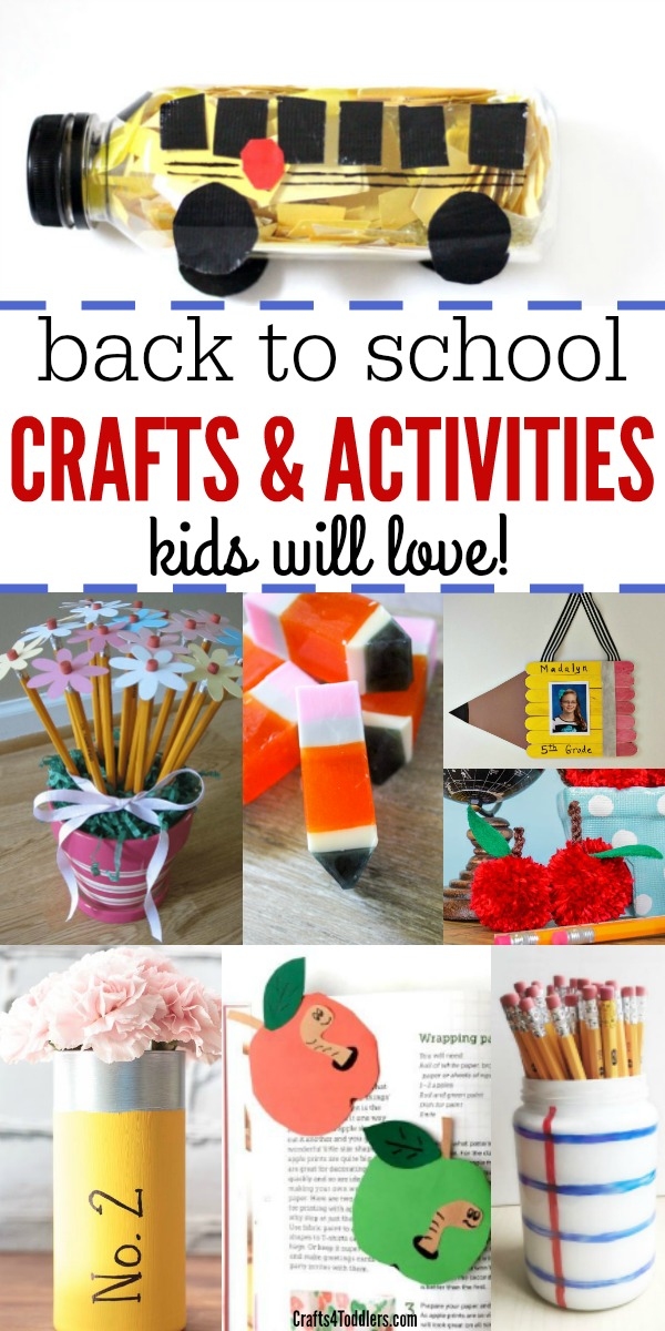 25 Back to School Crafts and Activities for Kids - Crafts 4