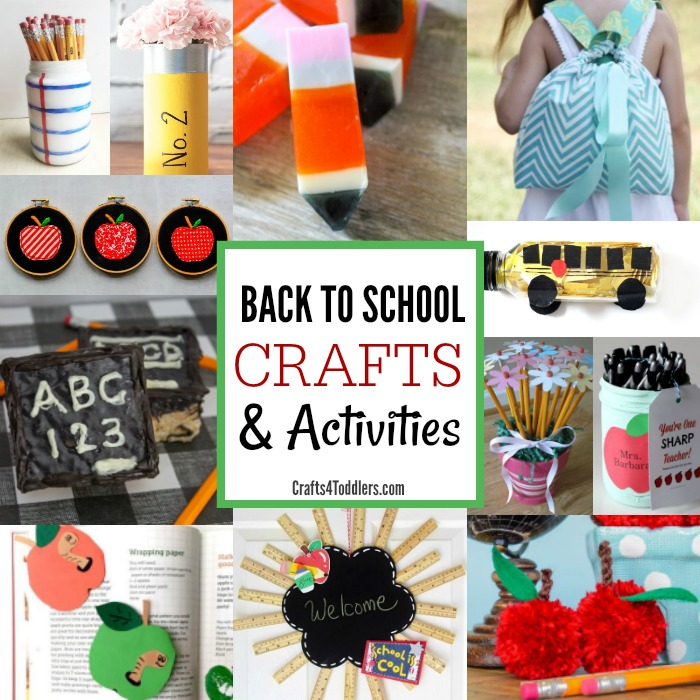 25 Back To School Crafts And Activities For Kids Crafts 4